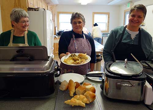 North Fork Community Kitchen Served Hot Turkey Dinner to friends and neighbors