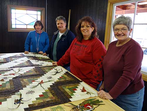North Fork Idaho Quilting at the Stitchin Post Center of quilt