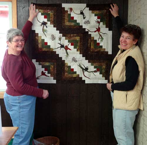 North Fork Fire Department Quilt Raffle Ladies Auxiliary Showing Quilt Center