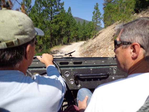 Jeep riding, Idaho Camping
